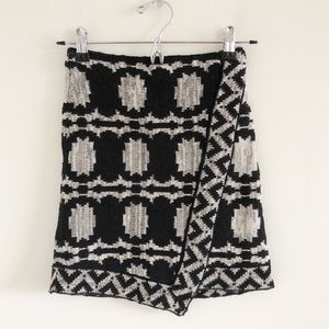 Free People Wrapped In You Black Blanket Skirt XS